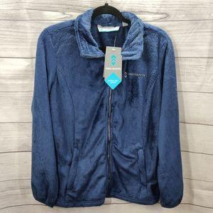 Free Country Indigo Blue Soft Fuzzy Jacket